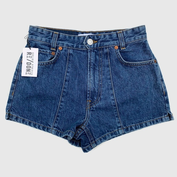 Re/Done Pants - RE/DONE 70's Pintuck Denim Shorts 25